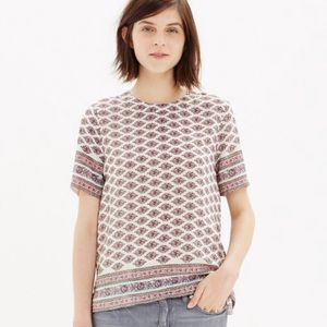 Madewell silk refined tee in diamond floral